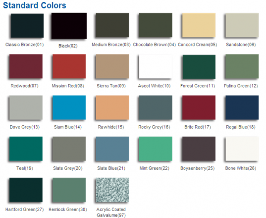 Atast-Standard-Metal-Roofing-Colors
